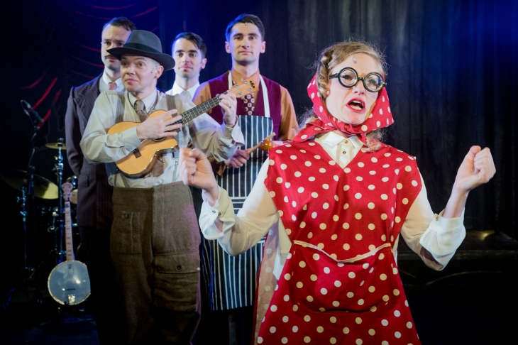 Sausage Song - Tamar Broadbent in Miss Nightingale the musical Photo, Robert Workman.jpg