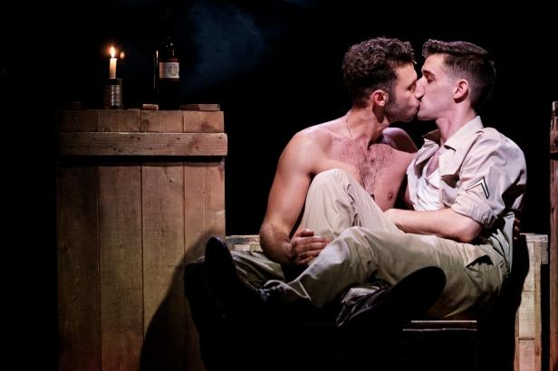 Andy Coxon (Mitch) and Scott Hunter (Stu) in YANK!, credit Claire Bilyard